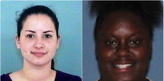 Gabriella Del Carmen Garcia e Fatina Saywer foram detidas em Chandler após publicação do vídeo no qual usam brinquedo sexual na frente de crianças (Foto: Reprodução/ Twtter/ Chandler Police)