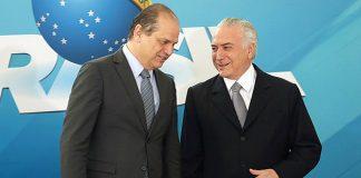 Michel Temer e Ministro da Saúde